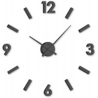 Nástenné nalepovacie hodiny JVD HC20.3, čierne