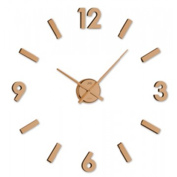 Nástenné nalepovacie hodiny JVD HC20.2, medené
