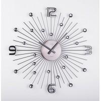 Dizajnové nástenné hodiny JVD HT074.2, antracit 49cm
