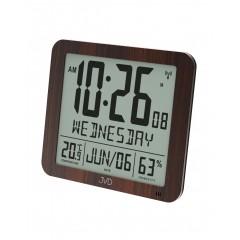 Rádiom riadené digitálne hodiny s budíkom JVD hnedé DH9335.2, 25cm