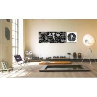 2-dielny obraz s hodinami, Kultúra, 158x46cm