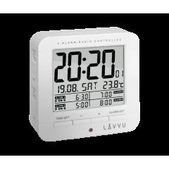 Digitálny budík riadený rádiovým signálom LAVVU LAR0010 White cube
