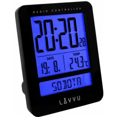 Digitálny budík riadený rádiovým signálom LAVVU LAR0021 Duo Black
