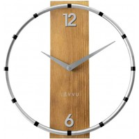 Nástenné hodiny LAVVU COMPASS Wood LCT1091, 31cm