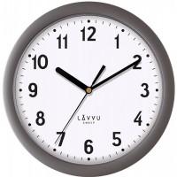 Nástenné hodiny LAVVU BASIC LCS2021 Metallic Grey, 25cm