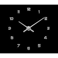 Nalepovacie hodiny LAVVU 3D STICKER Silver Numerals LCT1171