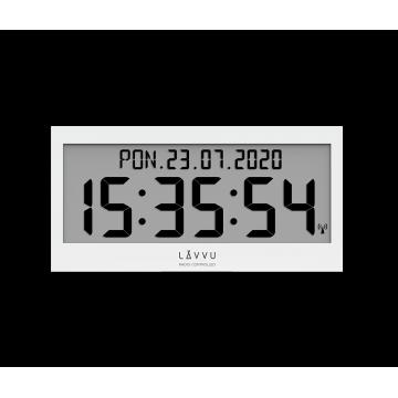 Digitálne hodiny s češtinou LAVVU MODIG riadené rádiovým signálom LCX0010 37cm