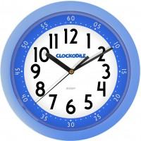 Nástenné detské hodiny CLOCKODILE CCS2010, modré 25cm