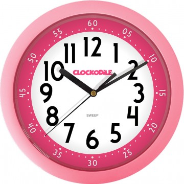Nástenné detské hodiny CLOCKODILE CCS2011, ružové 25cm