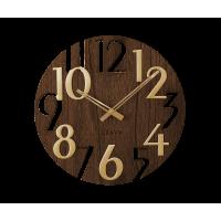Nástenné hodiny Lavvu LCT1011 STYLE Brown Wood, 40cm