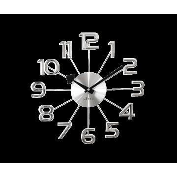 Nástenné hodiny LAVVU LCT1040 DESIGN Numerals, strieborné, 37cm