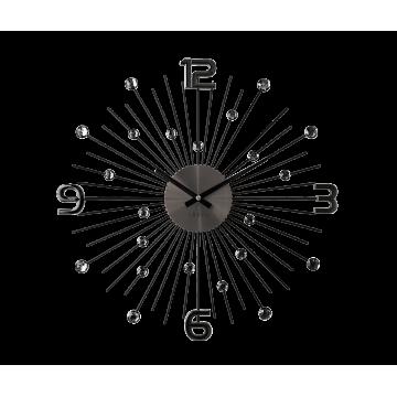 Nástenné hodiny LAVVU LCT1071 CRYSTAL Sun Antracit, 49 cm