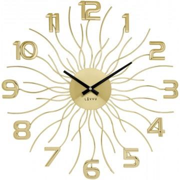 Nástenné hodiny LAVVU Sun LCT1241 zlaté, 49 cm