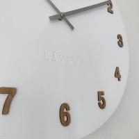 Veľké biele drevené hodiny LAVVU WHITE LCT4070, 50 cm