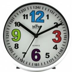 Nástenné hodiny MPM, 3685.00 - biela, 15cm