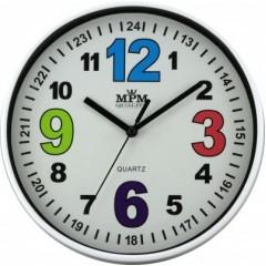 Nástenné hodiny MPM, 3686.00 - biela, 20cm