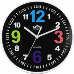 Nástenné hodiny MPM, 3686.90- čierna, 20cm