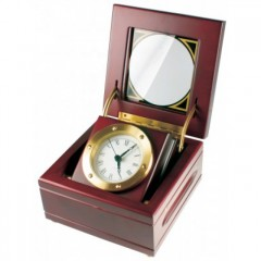 Stolové hodiny MPM, E03.2204.55.W - gaštan, 15cm