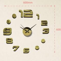 Nalepovacie nástenné hodiny, MPM 3776,80 zlatá, 60cm