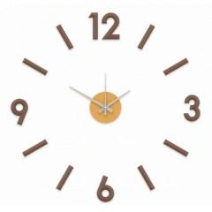 Nalepovacie nástenné hodiny, MPM 3771.50, hnedé, 60cm