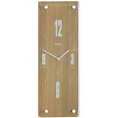 Nástenné DCF hodiny Mebus, dub 14,5 x 42 cm