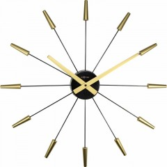 Dizajnové nástenné hodiny 2610go Nextime Plug Inn gold 60cm