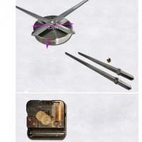 3D Nalepovacie hodiny DIY Clock Cat Time, čierne 70-120cm