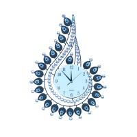 Nástenné hodiny Crystal Peacock, 70cm