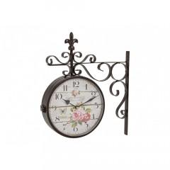 Nástenné hodiny obojstranné Maison de Florette, wur9634, 24cm